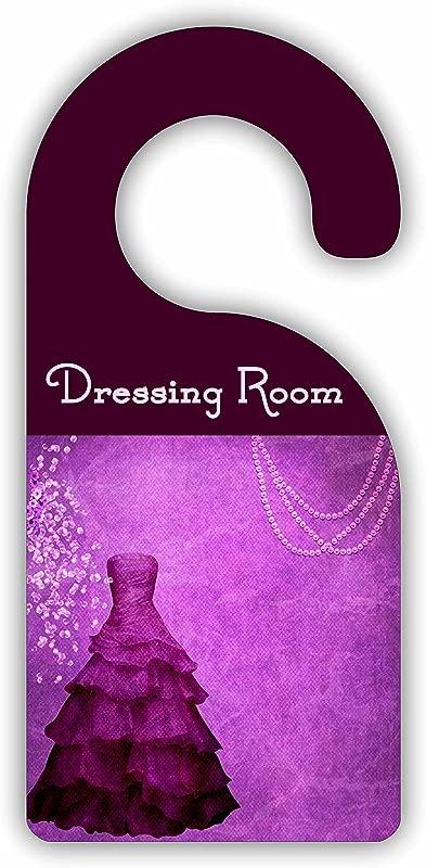 Dressing Room Purple Dressing Closet Room Door Sign Hanger Hardboard Glossy Finish