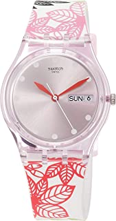 Swatch Womens Analogue Quartz Watch with Silicone Strap GP702