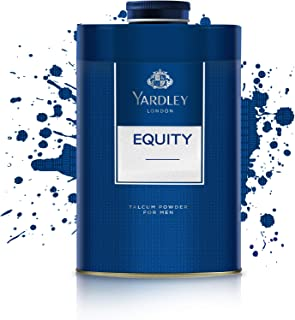 Yardley Equity Perfumed Talcum Body Powder, masculine, all day fragrance - 250 gm