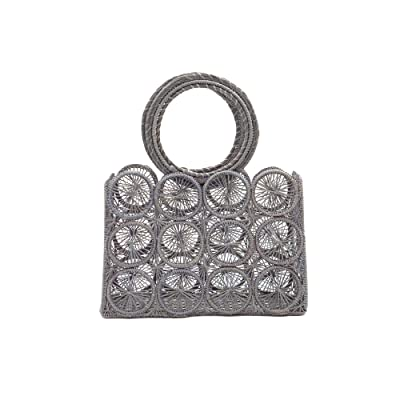 KAANAS Salamina Round Handle Tote (Grey) Handbags
