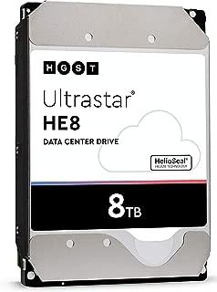 HGST Ultrastar He8   HUH728080ALE604   0F25721   8TB 7200RPM 128MB Cache SATA 6.0Gb/s 3.5-Inch   SE   512e   Enterprise Server Data Center Hard Drive HDD (Renewed)