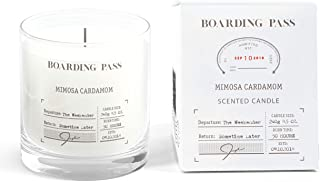 Boarding Pass Soy Candle, Burn on The Weekend, Almond Honey Violet Scented Candle, Clear, 8.5oz