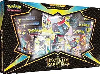 Pokemon Destinées Radieuses-Coffret Premium VMAX EB04.5-Lanssorien ou Nostenfer (Modèle aléatoire) -Jeu de Cartes à Jouer ...
