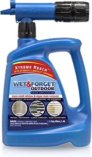 Wet & Forget Roof and Siding Cleaner for Easy Removal of Mold, Mildew and Algae Stains, Bleach-Free Formula, 48 OZ. Hose E...