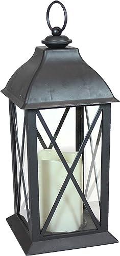 2021 Sunnydaze Lexington Indoor Decorative LED Candle Lantern - Rustic Vintage lowest Flameless Light for Living Room, Kitchen, and Bedroom - Antique Style 2021 Tabletop Decoration - 10-Inch sale