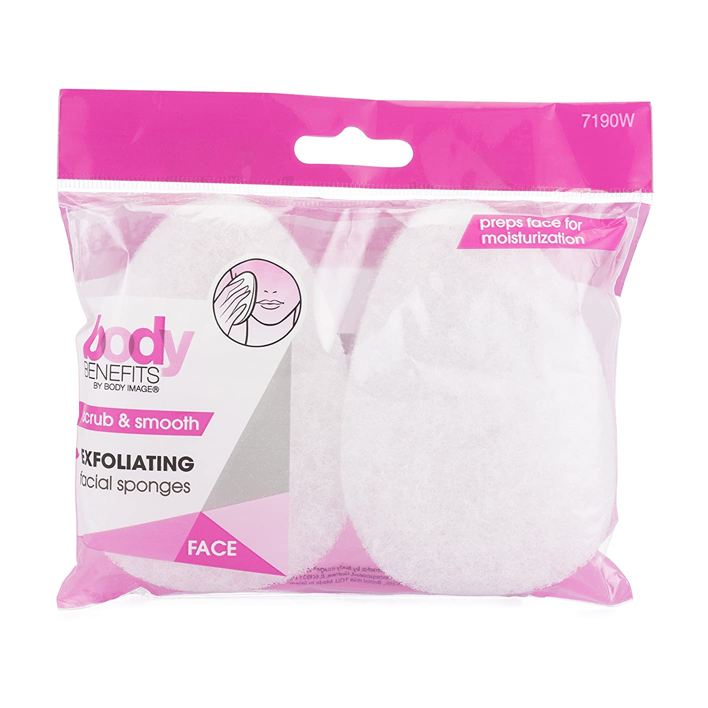 Body Benefits Exfoliating Facial Scrub Sponges, 0.03 Pound (Pack of 36), for Improved Facial Cleansing, Circulation and a Smoother, Healthier Look, Self Care Through Skin Care ayrsbbgsegy130