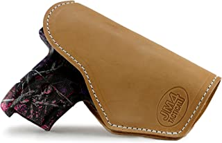 JM4 Tactical Magnetic Tan Left Hand Medium Holster- | Great for Ruger LC9 | Beretta Nano | Glock 43 | Walther P22 & More!