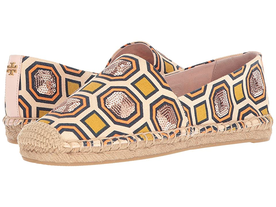 Tory Burch Cecily Embellished Espadrille (Ballet Pink Octagon Square) Women