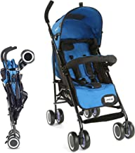 LuvLap City Stroller/Buggy, Compact & Travel Friendly, for Baby/Kids, 6-36 Months (Blue)