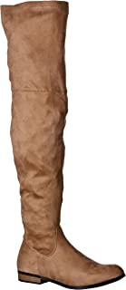 fc46c90bf7ee8 Amazon.com: Beige - Over-the-Knee / Boots: Clothing, Shoes & Jewelry