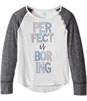 C&C California Kids Burnout Jersey Raglan with Button Details (Little Kids/Big Kids)