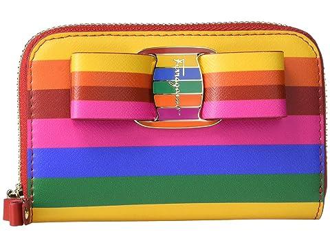 Salvatore Ferragamo Bold Rainbow Zip Around Wallet