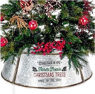 KIBAGA Farmhouse Christmas Tree Collar - Authentic Easy Set Up 30