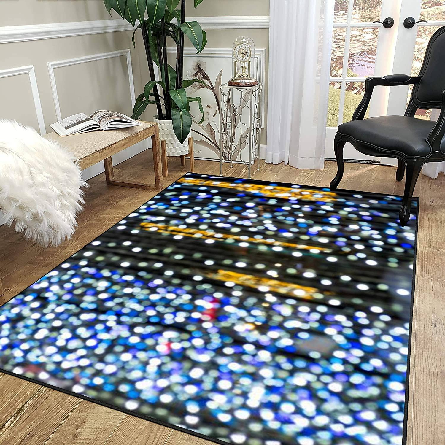 Rug Pad Lighting Illumination and Back Bokeh Quality inspection Max 40% OFF Items Decoration as