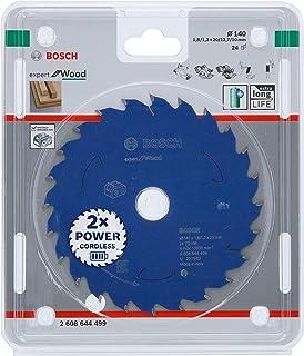 Bosch Professional Expert for Wood 2608644499 Circular Saw Blade (Wood, 140 x 20 x 1.8 mm, 24 Teeth, Battery Circular Saw)