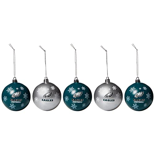 378c555bf48b6c FOCO NFL Unisex 2016 5 Pack Shatterproof Ball Ornament Set