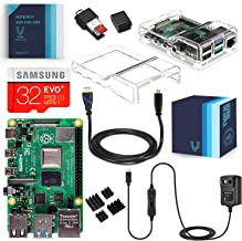 Vilros Raspberry Pi 4 Complete Starter Kit with Dual Cover Clear Case (4GB)