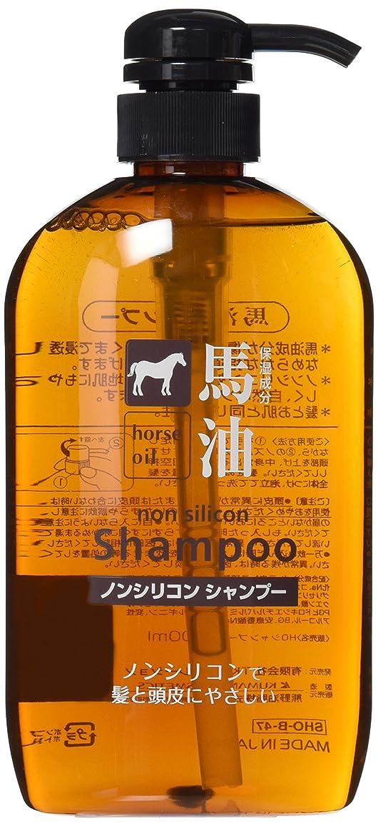 繁雑健康的最後の熊野油脂 馬油シャンプー 600ml