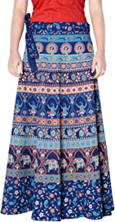 Rajvila Women's Cotton Printed Long 36 Inch Length Regular Wrap Around Skirt Colour (F_W36NT_0003)