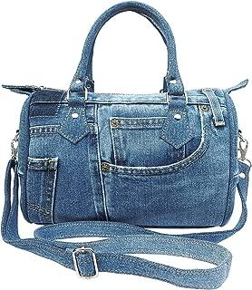 Classic Blue Denim Jean Doctor Style Women Handbag (LL-04)