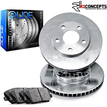 2003 2004 2005 Fit Hyundai Accent OE Replacement Rotors w//Metallic Pads F
