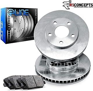 For 4Runner,Tacoma,FJ Cruiser,Hilux R1 Concepts eLine Front Plain Brake Rotors Kit + Ceramic Pads