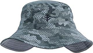 Coolibar UPF 50+ Men's Women's Reversible Bucket Hat - Sun Protective