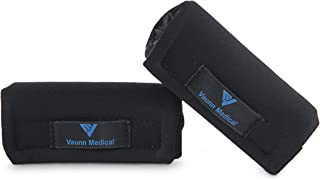 Vaunn Medical Padded Handgrips for Folding Travel Walker + Rollator (Hand-Grips ONLY) (Machine Washable - Latex Free)