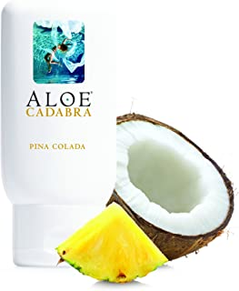 Aloe Cadabra Natural Personal Lubricant and Organic Sex Lube for Men, Women & Couples - Flavored Pina Colada, 2.5 Ounce (Pack of 3)