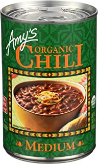 Amy's, Organic Chili, Medium, 14.7oz Can (Pack of 6)