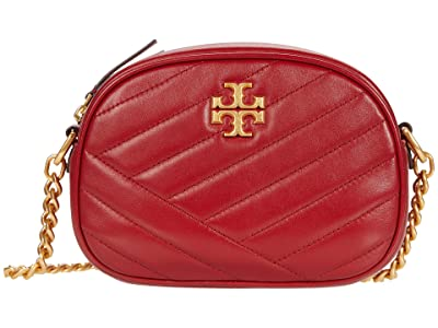 Tory Burch Kira Chevron Small Camera Bag (Redstone/Rolled Brass) Handbags