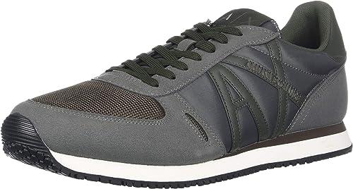 Armani Exchange Homme Chaussures paniers paniers paniers Micro Suede XUX017 XV028 b03