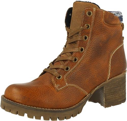 BULLBOXER 772M85063 - botas de Cordones de Piel Lisa mujer