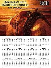 2018 Calendar Poster Western Cowboy Poster Calendar