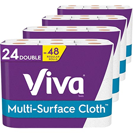 Viva Multi-Surface Cloth Paper Towels, Choose-A-Sheet - 24 Double Rolls = 48 Regular Rolls (110 Sheets Per Roll)