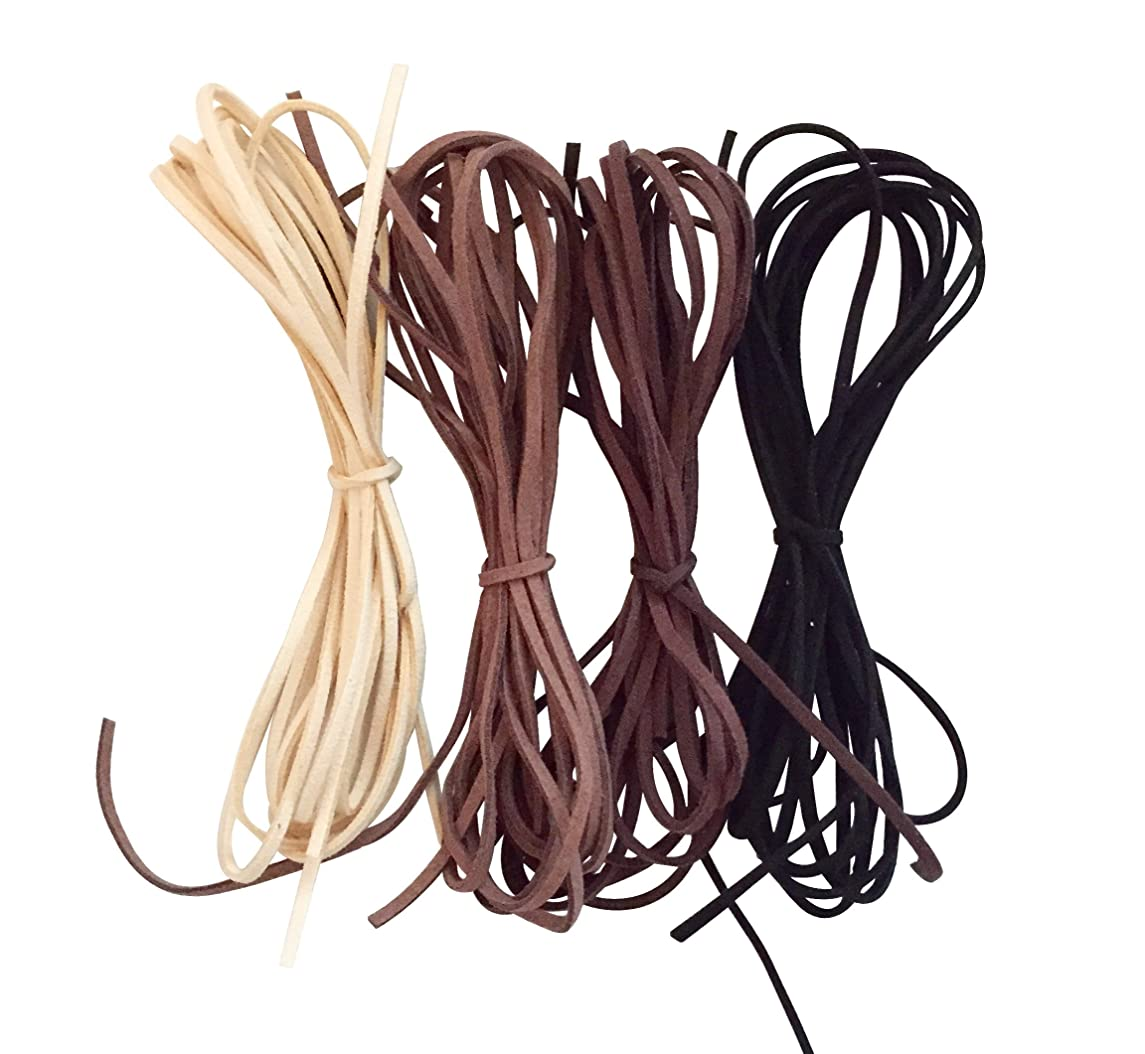 UnCommon Artistry Faux Suede Leather Cord Variety Pack, Neutral Mix