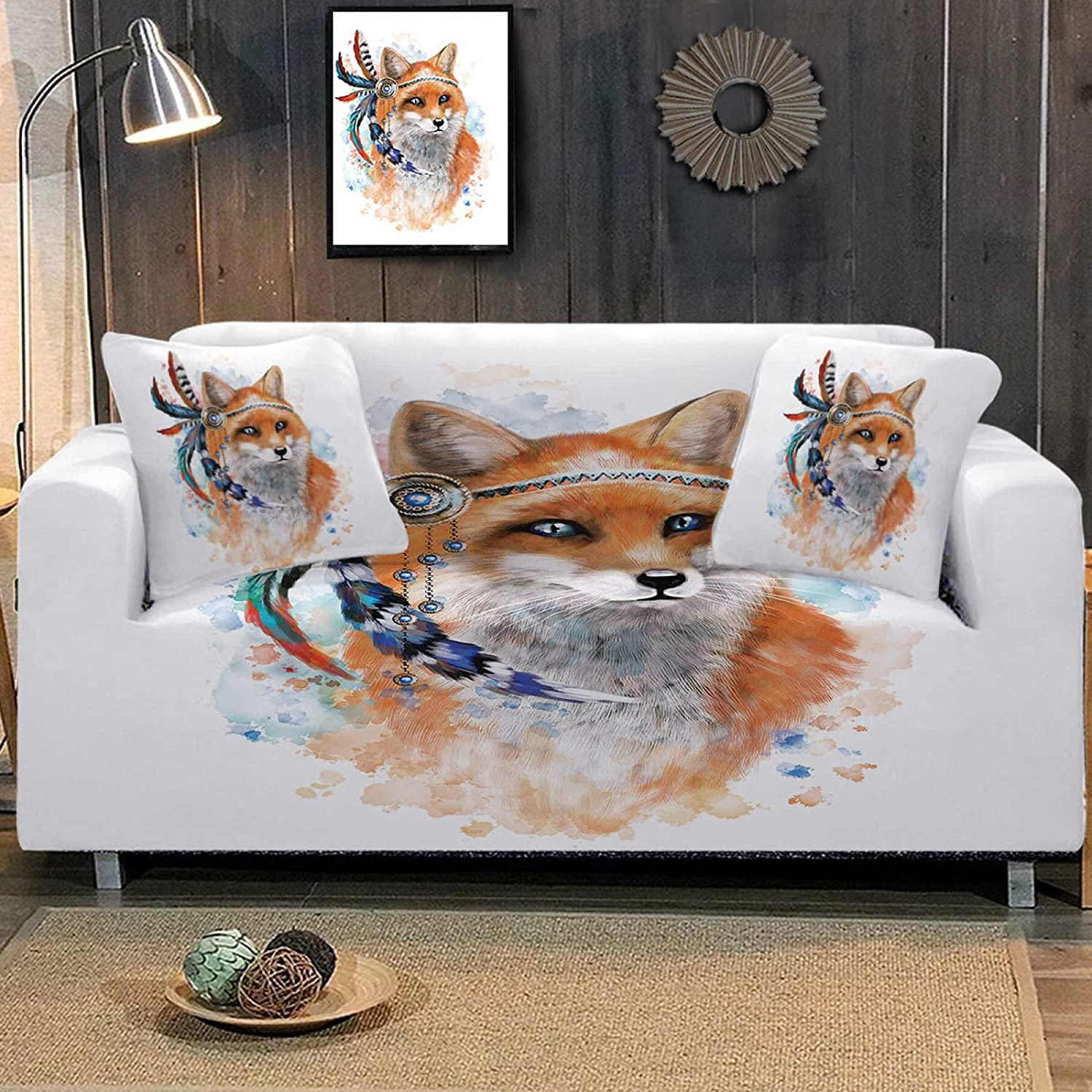 HUIJIE Easy-Going Super beauty product restock quality Direct sale of manufacturer top Sofa Slipcovers - All-Inclusive Animal Str Fox