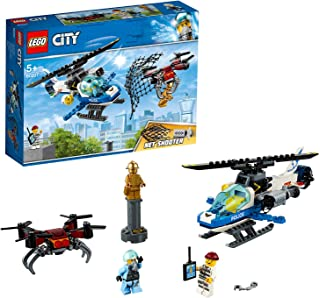 LEGO City Police Sky Police Drone Chase Set, Toy Helicopter & Drone, Police Toys for Kids