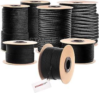Seilwerk STANKE Polypropylen Seil geflochten PP Seil Polypropylenseil SCHWARZ Festmacher Flechtleine Tauwerk Tau Reepschnur, 4mm, 50m