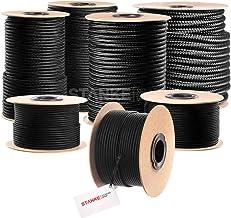 Seilwerk STANKE gevochten touw van polypropyleen ZWART zeilen touw, koord - 5mm, 10m