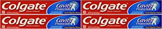 Colgate Fluoride Toothpaste, Cavity Protection, Regular Flavor 8.2 Oz (232 G) 4 in Pack