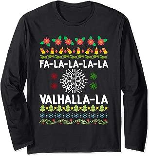 Fa-La-La-La Valhalla-La Viking God Ugly Christmas Long Sleeve T-Shirt