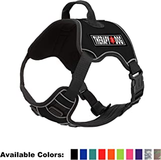 Dogline Quest No-Pull Dog Harness with 3D Rubber Therapy Dog Removable Patches Reflective Soft Comfortable Dog Vest with Q...