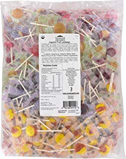 Yummy Earth Organic Fruit Lollipops - Assorted Fruits Flavors - 5 lb Container - 95%+ Organic - Gluten Free - 100% Natural Flavors - Vegan