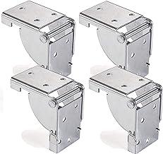 4 stuks SOTECH klapdeurbeslag, staal verzinkt, voor tafelpoten 38 x 38 mm