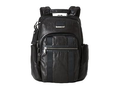 Tumi Alpha Bravo Nellis Backpack (Black Leather) Backpack Bags