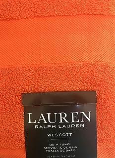 Lauren Ralph Lauren Westcott Bath Towel Summer Orange