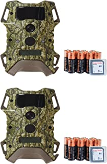 Wildgame Innovations 2 Pack DRT Extreme Lightsout Trail Scouting Cameras w/SD Card & Batteries