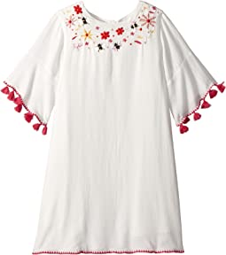Adama Bell Sleeve Dress w/ Floral Embroidery (Little Kids/Big Kids)