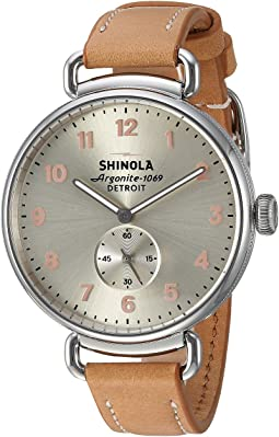 Natural Leather Strap/Metallic Dial